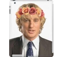 Owen Wilson Flower Crown iPad Case/Skin