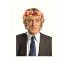 Owen Wilson Flower Crown Art Print