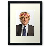 Owen Wilson Flower Crown Framed Print