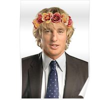 Owen Wilson Flower Crown Poster