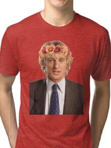 Owen Wilson Flower Crown Tri-blend T-Shirt