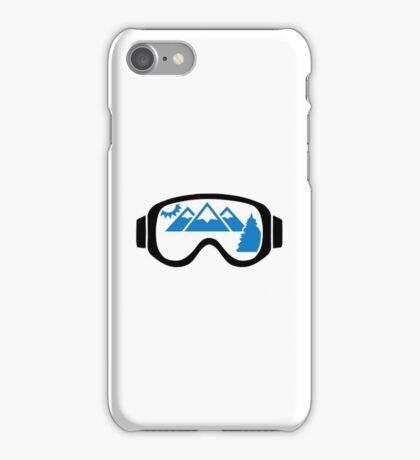 Ski goggles mountains iPhone Case/Skin