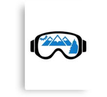 Ski goggles mountains Canvas Print