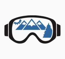 Ski goggles mountains by Designzz