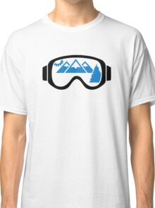 Ski goggles mountains Classic T-Shirt