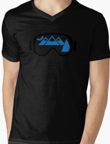 Ski goggles mountains Mens V-Neck T-Shirt