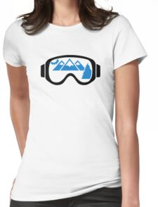 Ski goggles mountains Womens Fitted T-Shirt