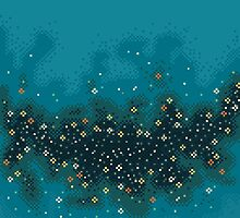 Blue rift galaxy (8bit) by sp8cebit