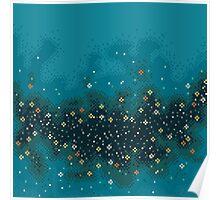Blue rift galaxy (8bit) Poster