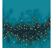 Blue rift galaxy (8bit) Photographic Print