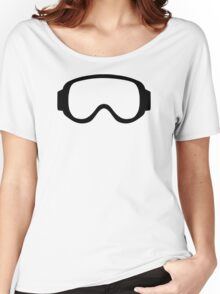 Ski snowboard goggles Women's Relaxed Fit T-Shirt