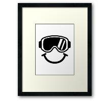 Ski smiley Framed Print