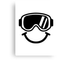 Ski smiley Canvas Print