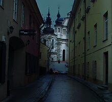 Old Street in Vilnius by Antanas
