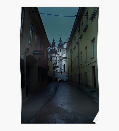 Old Street in Vilnius Poster