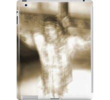 Jesus on the cross iPad Case/Skin