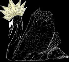 Black Swan Queen - Gold Crown by FTML
