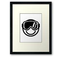 Ski snowboard smiley Framed Print