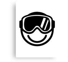 Ski snowboard smiley Canvas Print