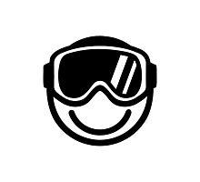 Ski snowboard smiley Photographic Print