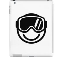 Ski snowboard smiley iPad Case/Skin