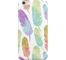 Boho Feather Pattern Watercolor Rainbow iPhone Case/Skin