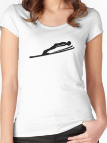Ski jumping jumper Women's Fitted Scoop T-Shirt