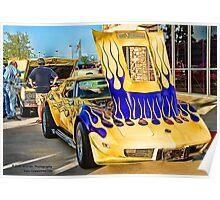 """Wild One"" Chevy Corvette Poster"