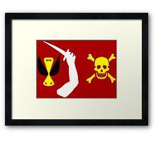 Christopher Moody Pirate Flag Framed Print