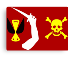 Christopher Moody Pirate Flag Canvas Print