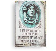 Dear Sweet Leota Metal Print