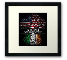 Riley - American Grown with Irish Roots Framed Print