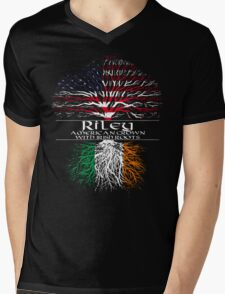 Riley - American Grown with Irish Roots Mens V-Neck T-Shirt