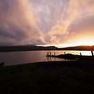 Sunset on Spiggie Loch by NordicBlackbird