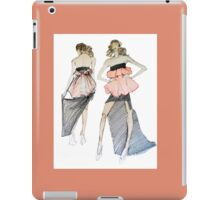 For Stylish Fashion Girls in white, black and peach iPad Case/Skin