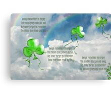 Balloons And Blessing Canvas Print