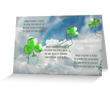 Balloons And Blessing Greeting Card