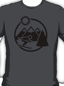 Skiing mountains sun T-Shirt