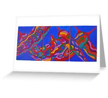 the dance of chillies  Greeting Card