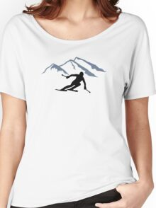 Skiing mountains Women's Relaxed Fit T-Shirt