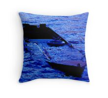 Sinking boat Throw Pillow