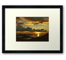 Bordeaux Mountain Sunrise Framed Print