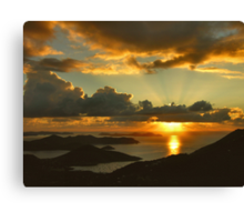 Bordeaux Mountain Sunrise Canvas Print