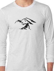 Downhill skiing mountains Long Sleeve T-Shirt