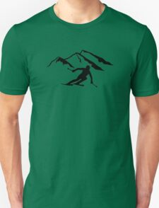 Downhill skiing mountains Unisex T-Shirt