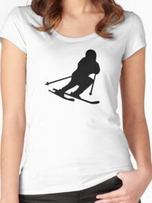 Downhill skiing Women's Fitted Scoop T-Shirt