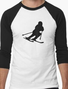 Downhill skiing Men's Baseball ¾ T-Shirt