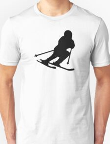 Downhill skiing Unisex T-Shirt