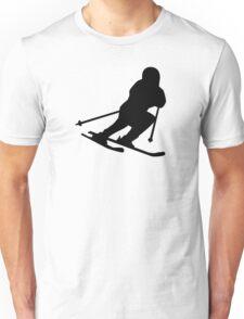 Downhill skiing Unisex T-Shirt