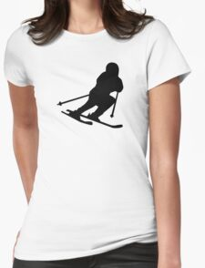 Downhill skiing Womens Fitted T-Shirt